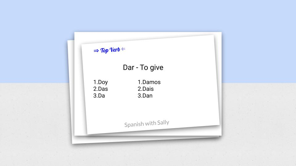 Dar - to give