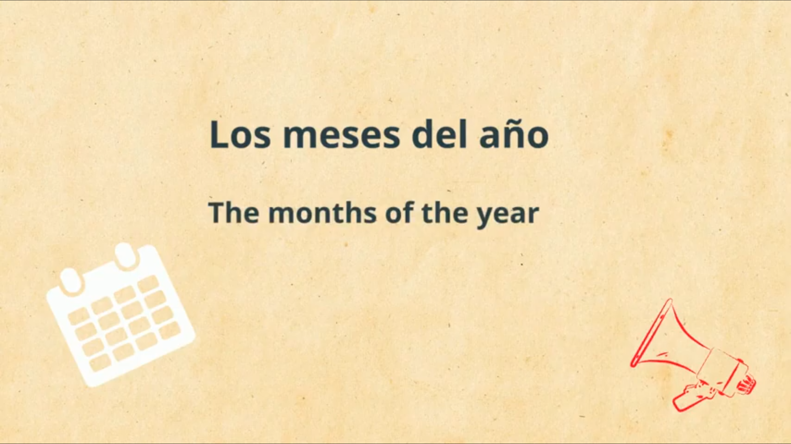 Months of the Year Video